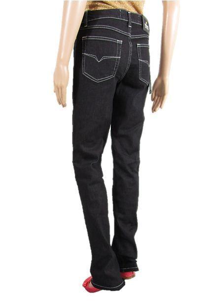 VERSACE Woman New Vtg 90s Fashion Classic Straight Indigo Mum Jeans sz IT44 AT16