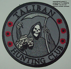 TALIBAN-HUNTING-CLUB-DEATH-REAPER-HEAD-HUNTER-Hook-MORALE-MILITARY-PATCH-SWAT
