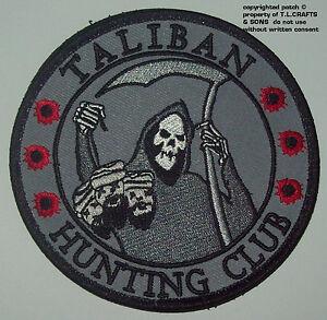 TALIBAN-HUNTING-CLUB-DEATH-REAPER-HEAD-HUNTER-MORALE-MILITARY-PATCH-SWAT