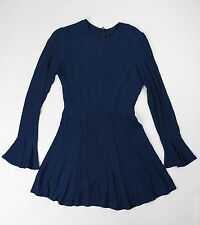 Reformation Navy Blue Long Sleeve Dress Size Small