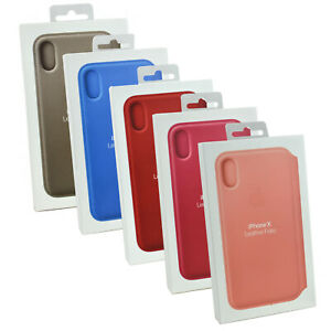 New-Genuine-Authentic-Apple-Leather-Folio-Wallet-Flip-Case-Cover-for-iPhone-X