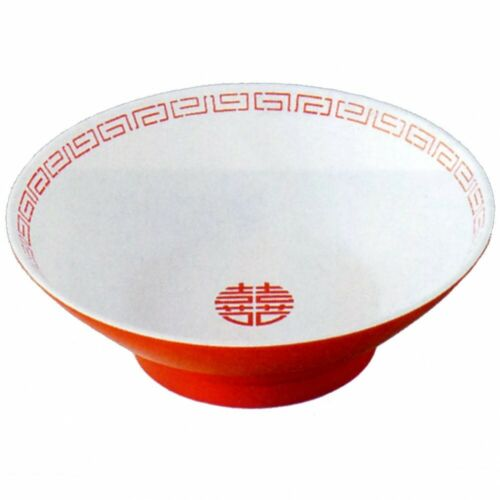 Entech Ramen Bowl Dish White CA-12 DONBURI Red