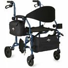 Medline MDS808200TR Combination Rollator- Chair