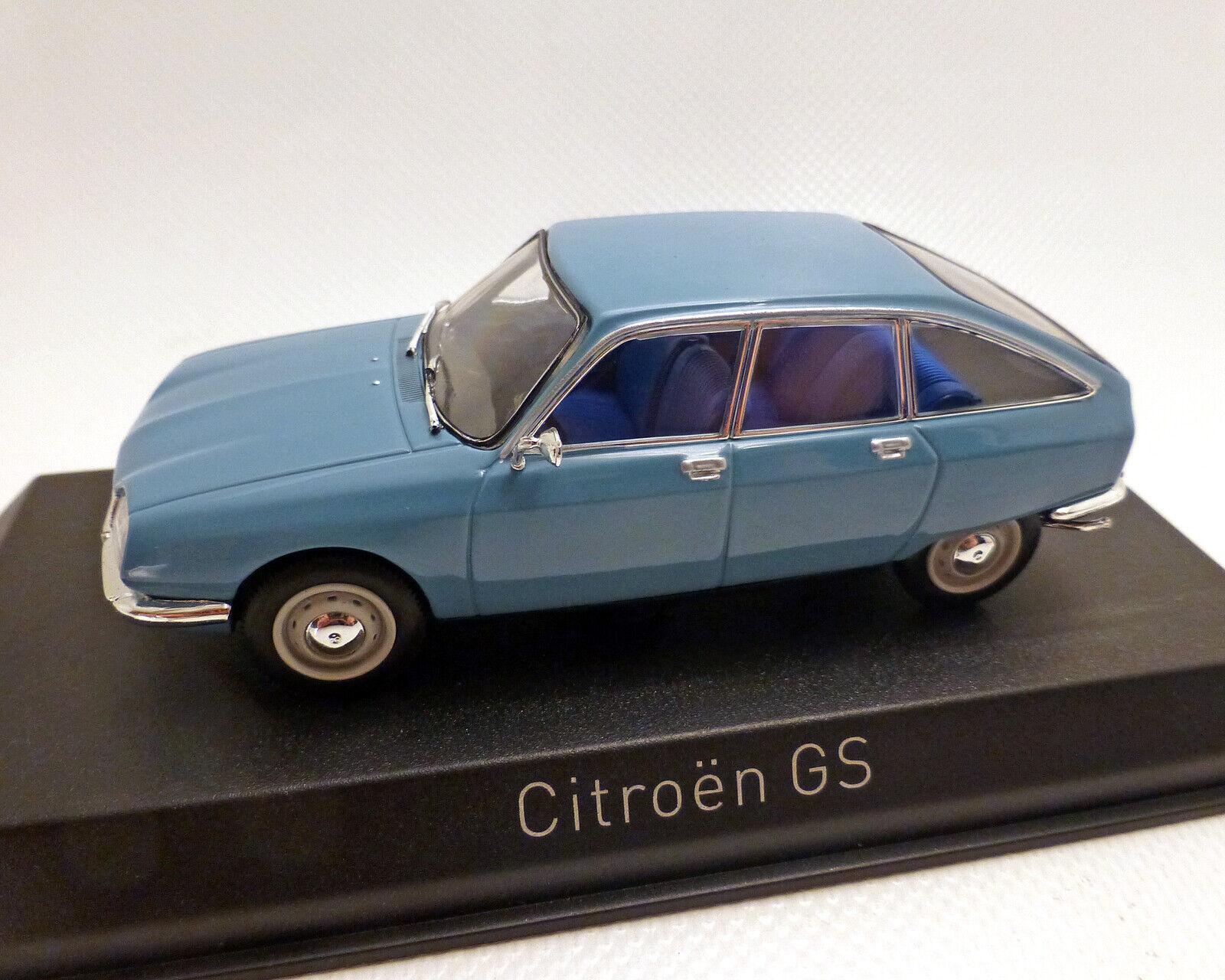 Citroen GS 1971, azul, norev 1 43