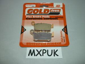 KX125 2001 Rear Brake Pads GOLD FREN 003 AD MXPUK 01 KX 125 251