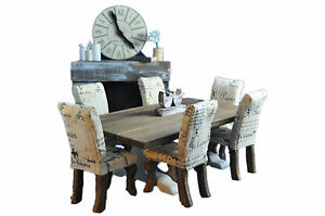 MiniMolly-Dollhouse-Furniture-Dining-Table-6-chairs-Paris-Upholstered