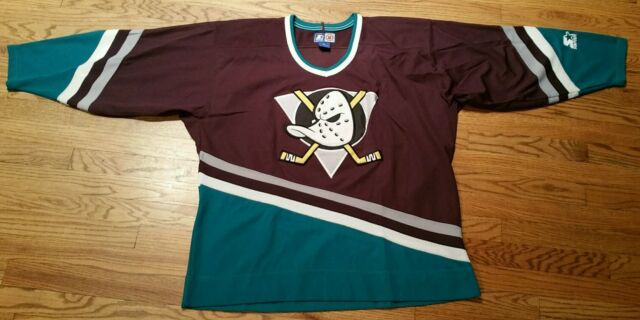 Anaheim Mighty Ducks NHL Hockey Starter Jersey Shirt Men XL vintage Sewn X-Large