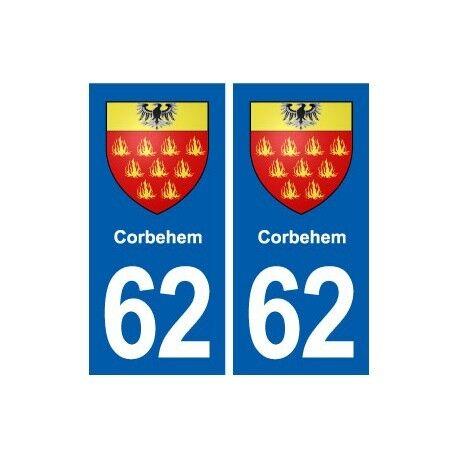 62 Corbehem blason autocollant plaque stickers ville droits
