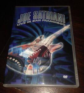 Joe Satriani Live In San Francisco Doppio DVD Perfetto Come Nuovo Vedi Foto