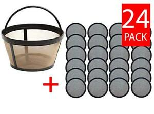 24 Water Filter Disks 1 Reusable Coffee Filter Basket For Mr