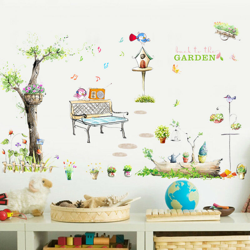 3D Handgemalter Garten 83 Tapete Wandgemälde Tapete Tapeten Bild Familie DE