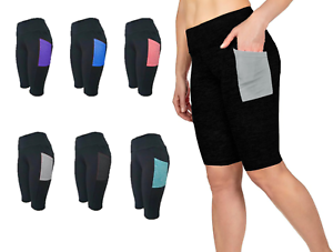 LADIES-SPORT-GYM-WORKOUT-RUNNING-POCKET-LEGGINGS-BIKER-WAIST-SHORTS-FOR-WOMENS