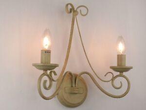 Lampada da parete applique fiammingo classico rustico country shabby