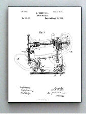 Framed 8.5 X 11 Sewing Machine Original Patent Diagram Plans Ready To Hang