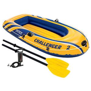 Ruder- & Paddelboote Intex 68367 Challenger 2 Schlauchboot Incl Bootsport-Artikel Ruder pumpe günstig kaufen