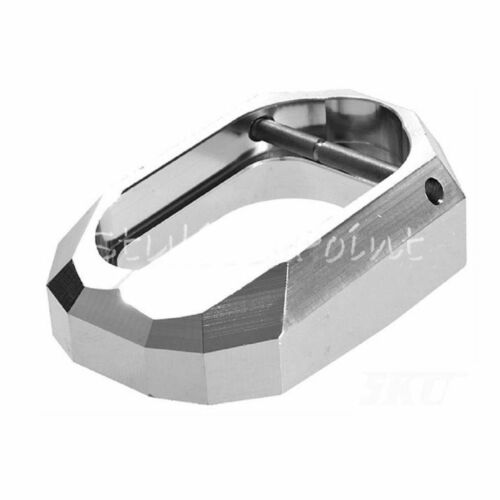 Airsoft Shooting Gear 5KU DOM Style Magwell for Marui Hi-Capa Pistol Silver