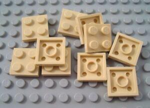 New LEGO Lot of 8 Tan 1x2 Plates
