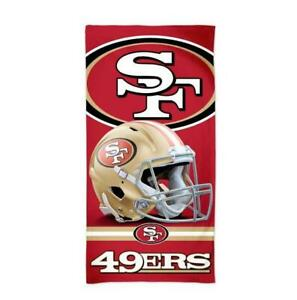 San-Francisco-49-ers-NFL-Football-Strandtuch-Badetuch-Beach-Towel-Helm-Logo