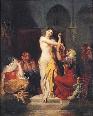 Art Oil painting nude girl - Moorish Woman Leaving the Bath in the Seraglio