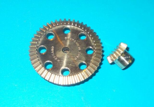 meccano laiton 2 pignons d'angle 16/48 dents, No30a, 30c