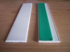 barre de la fen tre profil plat pvc 30mm blanc ebay. Black Bedroom Furniture Sets. Home Design Ideas