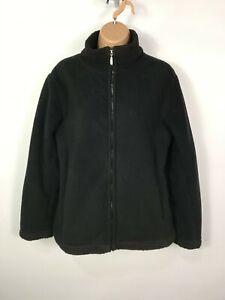 WOMENS BHS BLACK ZIP UP SHERPA LINED CASUAL SHORT FLEECE JACKET COAT SIZE UK 14