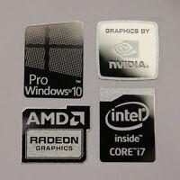 Windows 10 Pro Combo Badge Metal Sticker, Pc/laptop Intel Core I7/i5/amd/nvidia