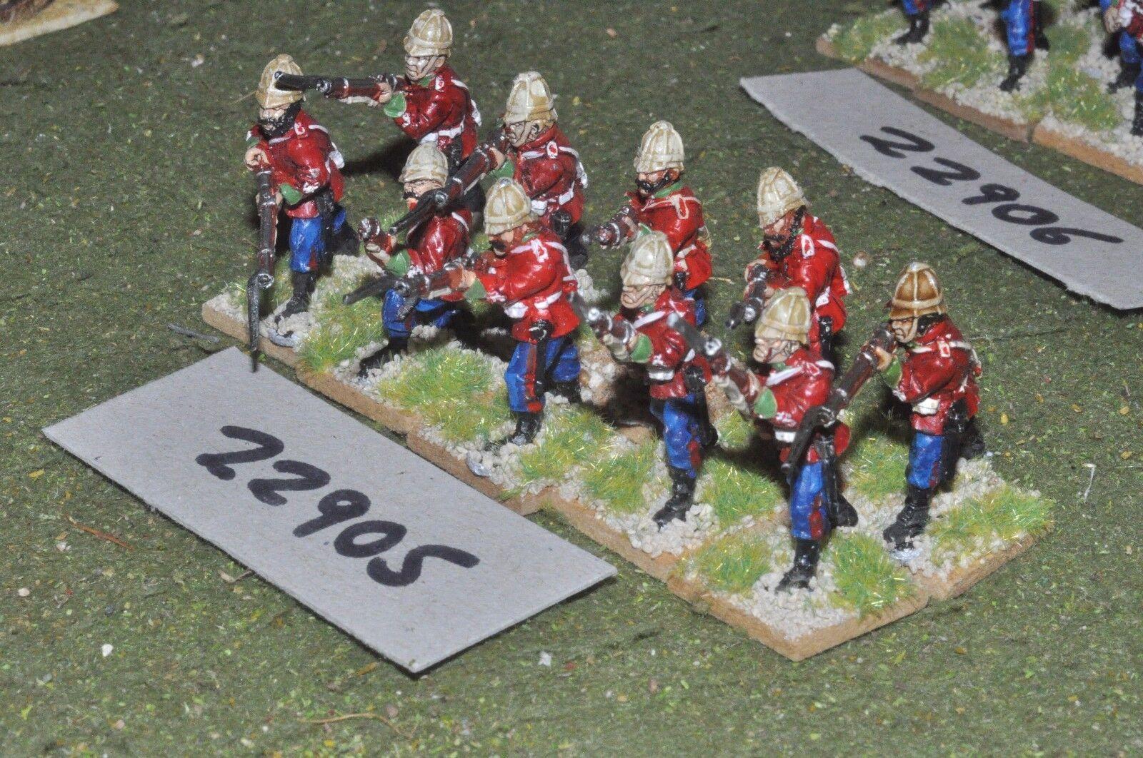 25mm 19th century   british - zulu war (plastic) 10 figures - inf (22905)