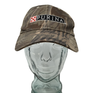 Purina-Baseball-Cap-Hat-Embroidered-Camouflage-Brown-OSFM-Strap-Back