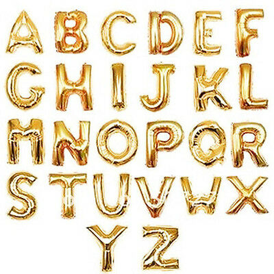 """16"""",40"""" Letter number Helium Foil Balloon Silver/Golden Birthday Wedding Party"""