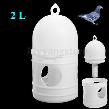 2L 2000ML Removeble White Plastic Drinker With Handle For Pigeons Bird Supplies