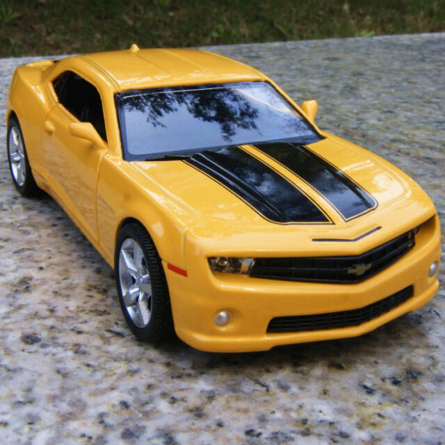 Chevrolet Camaro Alloy Diecast Model Cars 5 Yellow Toys Pull Back