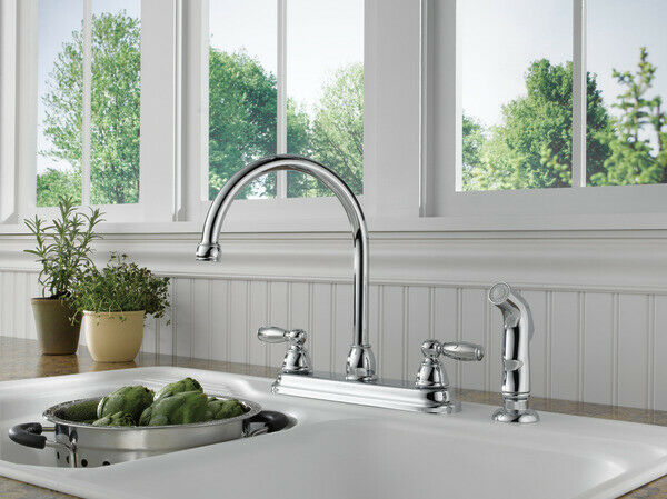 Peerless P299208LF Choice Two Handle Kitchen Faucet Chrome