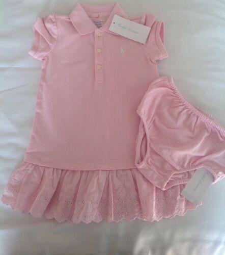 Ralph Lauren Baby Girls Dress Set Spring Yellow Spring Pink New arrival