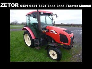 zetor 6421 6441 7421 7441 8421 8441 operation manual w tractor rh ebay co uk