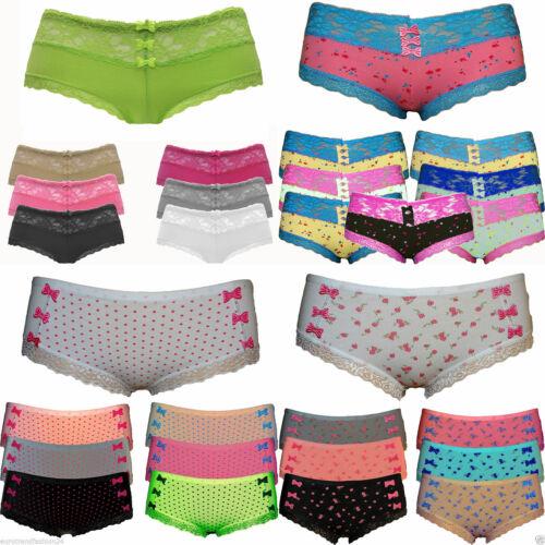 8 Stück Damen Slips Hipster Baumwolle Boxershorts Boxer Pants Unterhose Neu
