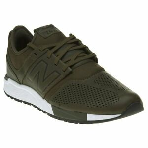 d5014e36d292 Image is loading New-MENS-NEW-BALANCE-GREEN-KHAKI-247-LEATHER-