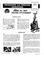 1976 Atlas 500a Lathe Milling Attachment Instructions