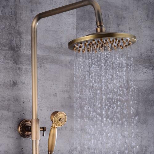Retro Duschset Regendusche Duschkopf Handbrause Kopfbrause Duschsystem Antik DHL