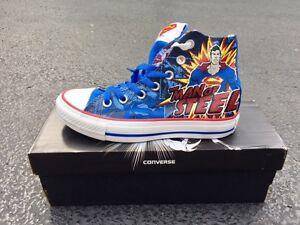 9de1bb5db9f4 Mens 3   Womens 5 Converse SUPERMAN All Star Chuck Taylor DC Comics ...