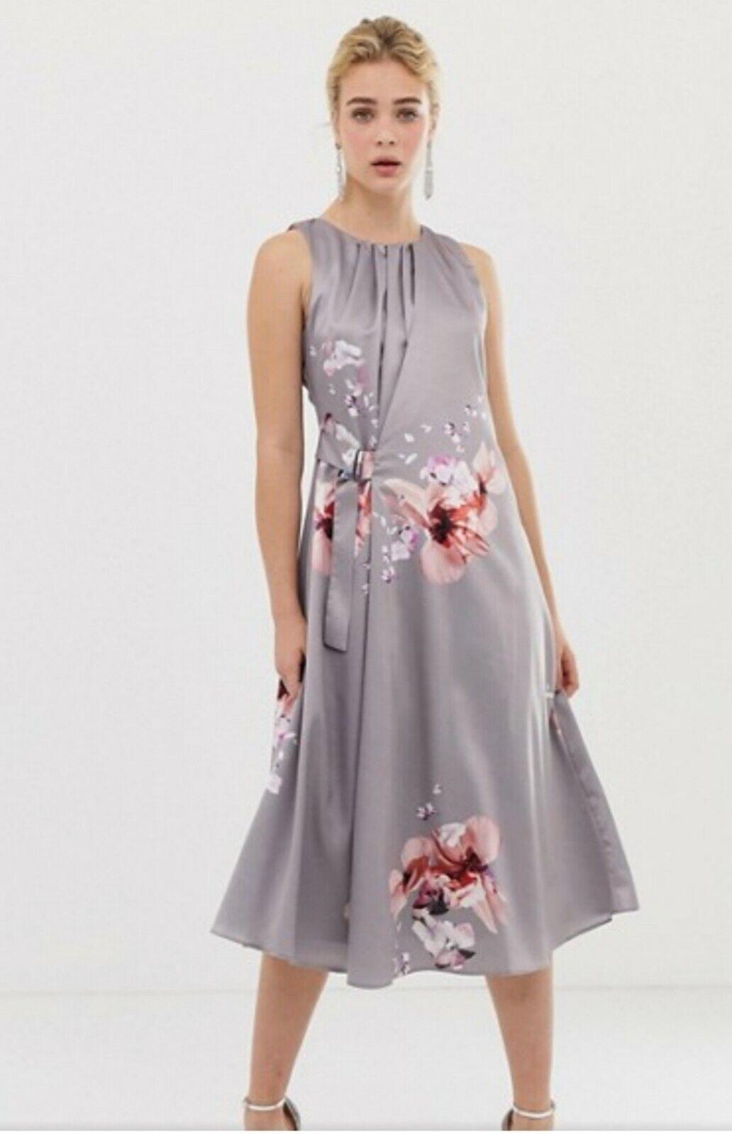 1a399cef Coast Grey Floral Midi Dress Claude size 10 bnwt bnwt bnwt 603d00 ...