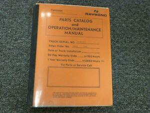 Raymond 10-F40L 10-F/R40L Pallet Jack Parts Owner Operator