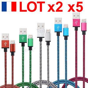 CABLE-POUR-IPHONE-5-6-7-8-X-PLUS-SE-IPAD-IPOD-CHARGEUR-USB-METAL-RENFORCE-LOTS