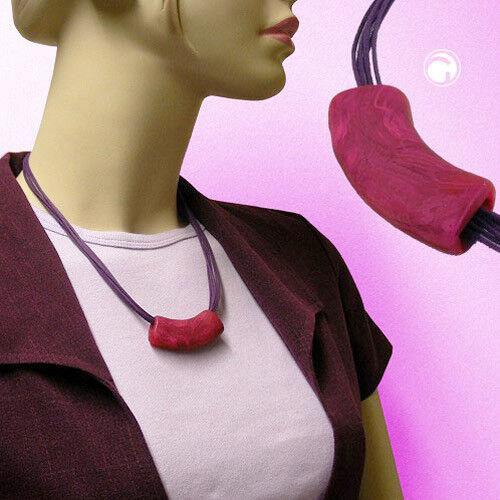 Kette Rohr flach-gebogen pink-lila