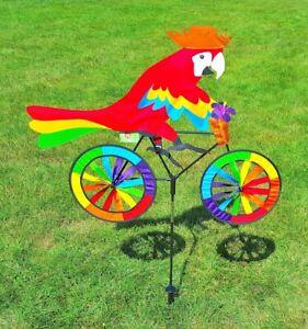 Windspiel-Papagei-Windrad-Paradiesvogel-Garten-Gartenwindspiel-Windrad-Vogel