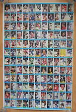 1989-90 OPC O-PEE CHEE HOCKEY UNCUT SHEET 132 CARDS NM THEOREN FLEURY RC GRETZKY