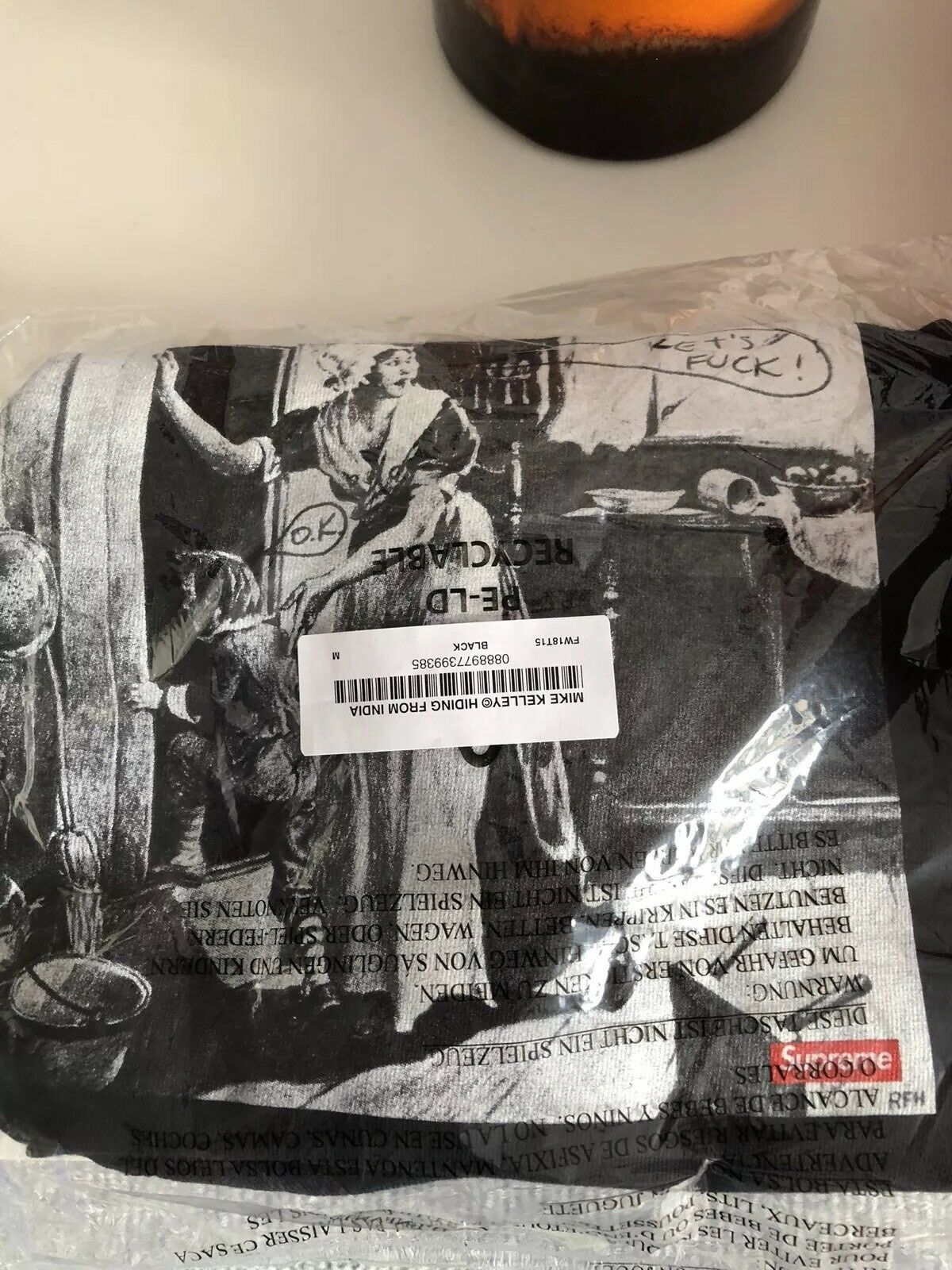 Rare supreme mike kelley hiding from indians tee, hype, sold out, Xmas Ideas