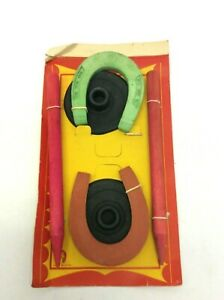 Vintage-Made-Japan-Unicorn-Horseshoe-Kids-Game-Rubber-Toys-in-Original-Package