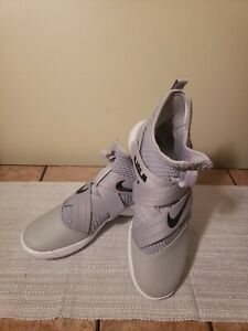finest selection a10f4 21583 Details about New. Nike Lebron Soldier XII TB Zoom Men Sz. 9 Grey  Basketball Shoes AT3872-003