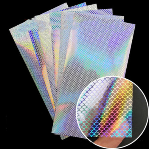 10pcs Lure DIY 20x10cm Sticker Flash Modified Bait Scale Brand New High Quality